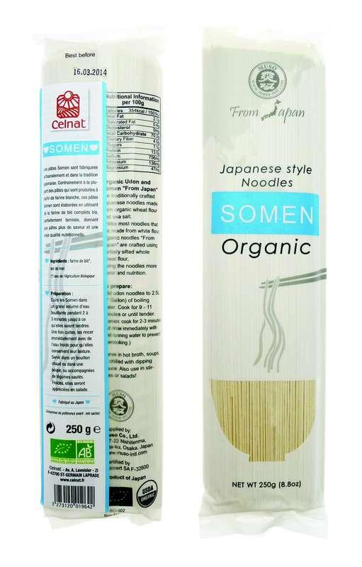 Somen (pâtes japonaises au blé dur) BIO, Celnat (250 g)