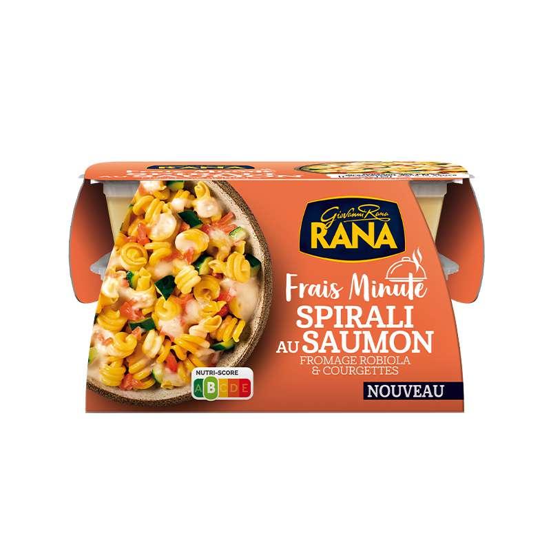 Spirali au saumon, fromage robiola et courgettes Frais Minute, Giovanni Rana (350 g)