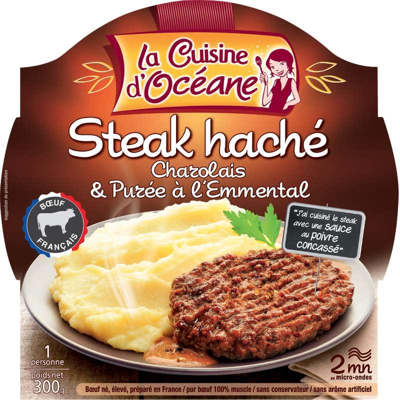 Steak haché Charolais & purée à l'emmental, La Cuisine d'Océane (300 g)