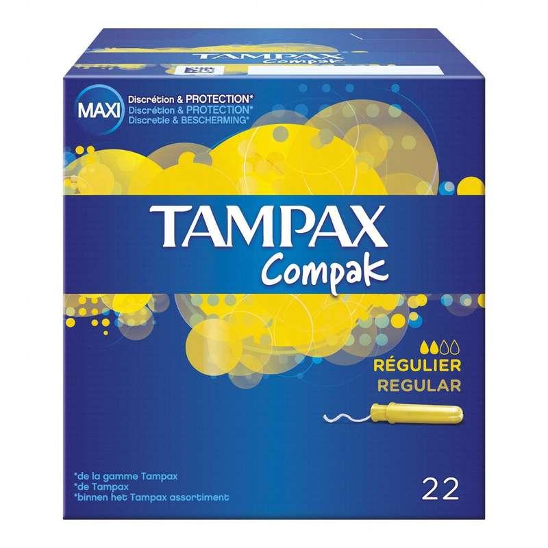 Tampons Compak régulier, Tampax (x 22)