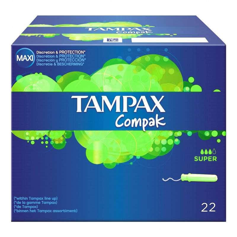 Tampons Compak super, Tampax (x 22)