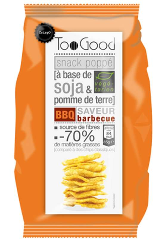 Snack poppé soja & pdt saveur barbecue, Too Good (85 g)