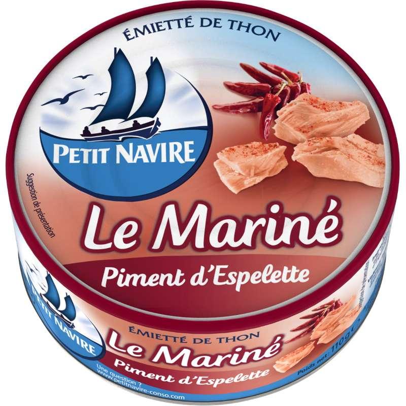 Thon Le mariné au piment d'Espelette, Le Petit Navire (110 g)