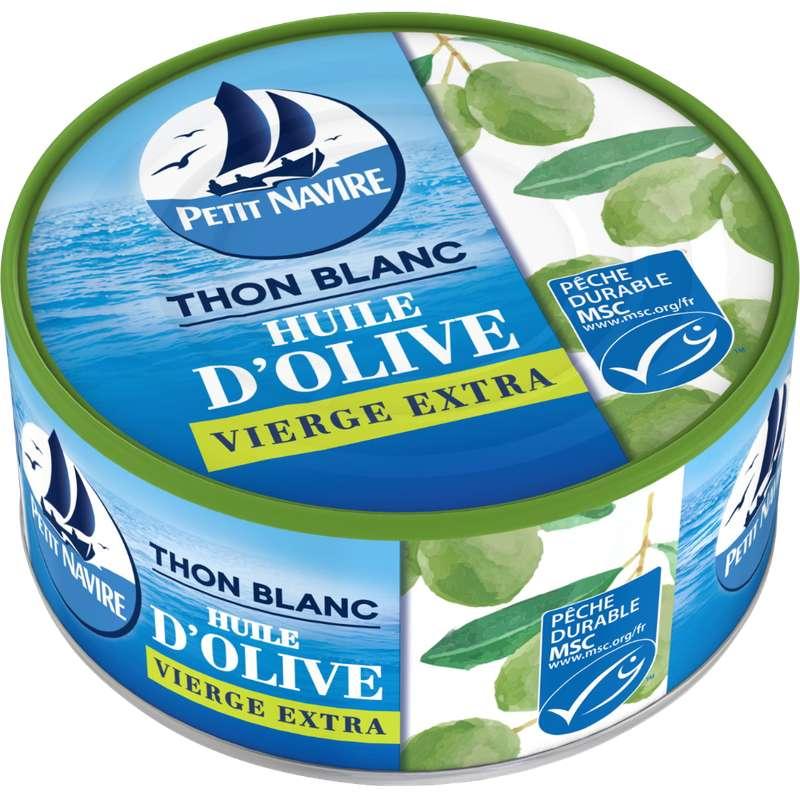 Thon blanc à l'huile d'olive vierge extra, Petit Navire (104 g)