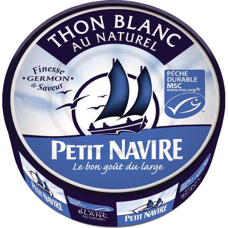 Thon blanc au naturel pêche durable, Petit Navire (112 g)