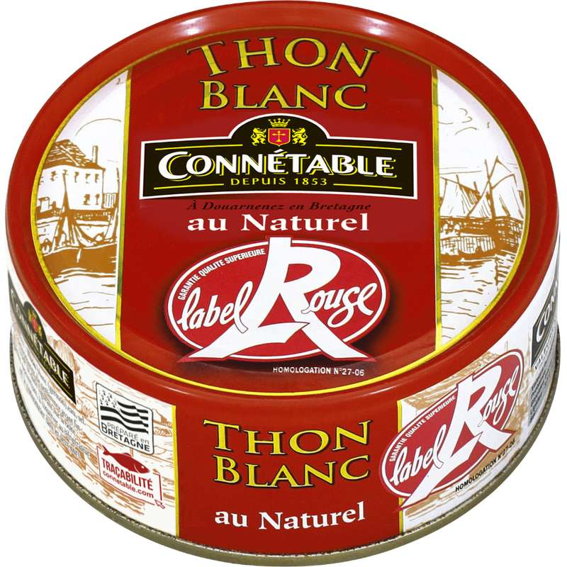 Thon blanc germon au naturel Label Rouge, Connetable (160 g)