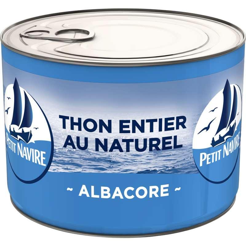 Thon entier albacore au naturel démarche responsable, Petit Navire (280 g)