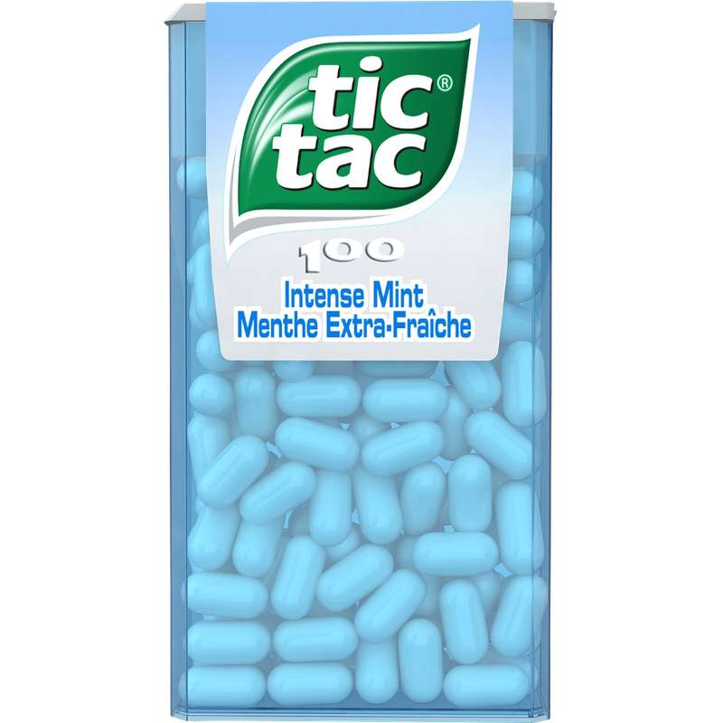 Tic Tac Menthe Extra Fraiche (étui de 100)