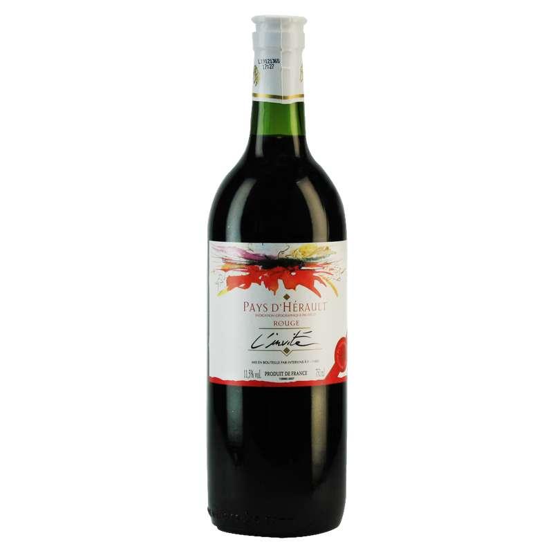 Vin rouge L'Invité Pays de l'Hérault (75 cl)