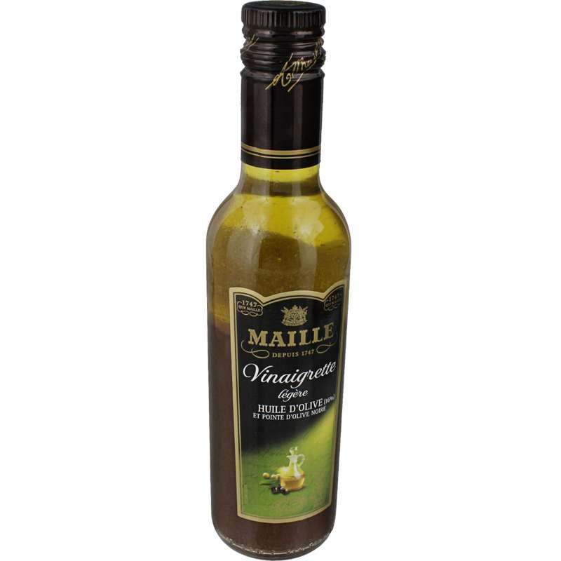 Vinaigrette légère à l'huile d'olive et aux olives noires, Maille (360 ml)