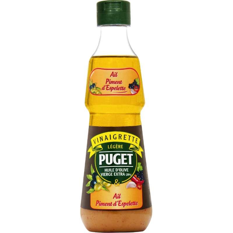 Vinaigrette légère ail et piment de Cayenne, Puget (330 ml)
