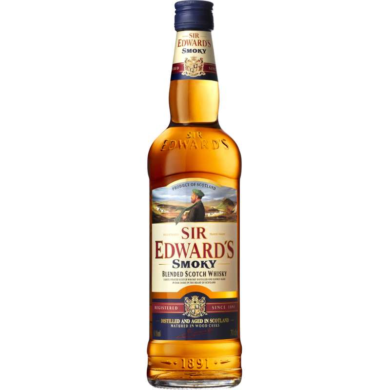 Whisky Blended Scotch Smoky, Sir Edward's (70 cl)