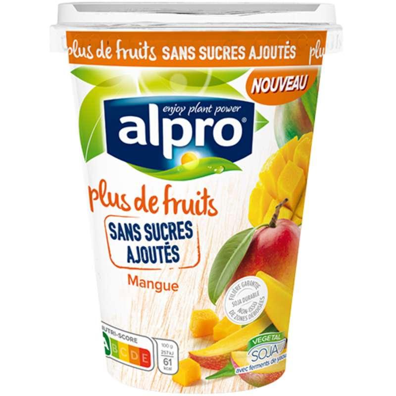 Dessert brassé au soja parfum mangue sans sucres ajoutés, Alpro (400 g)