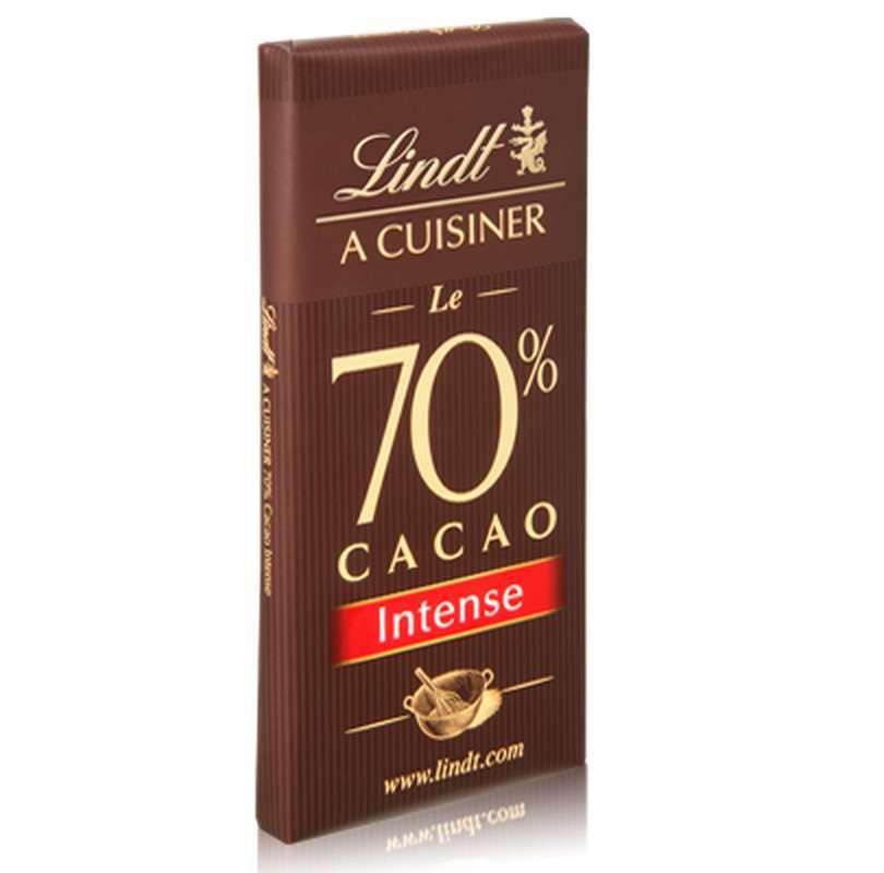 Chocolat à cuisiner 70% de cacao, Lindt (180 g)