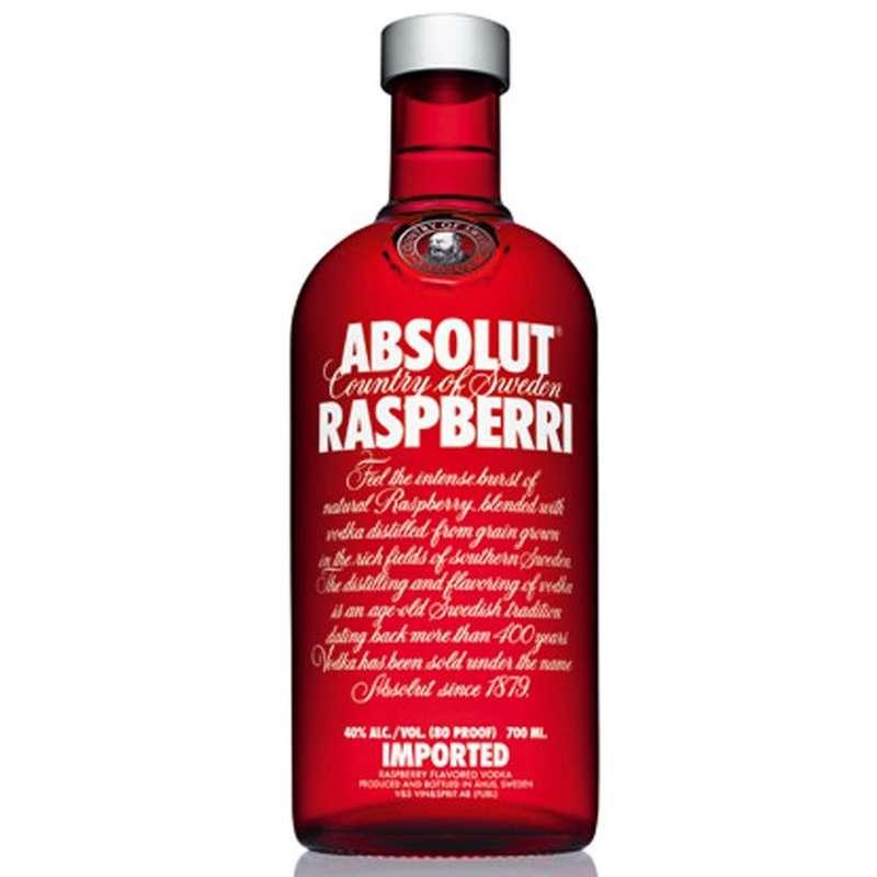 Vodka Absolut Raspberry - Framboise (70 cl)