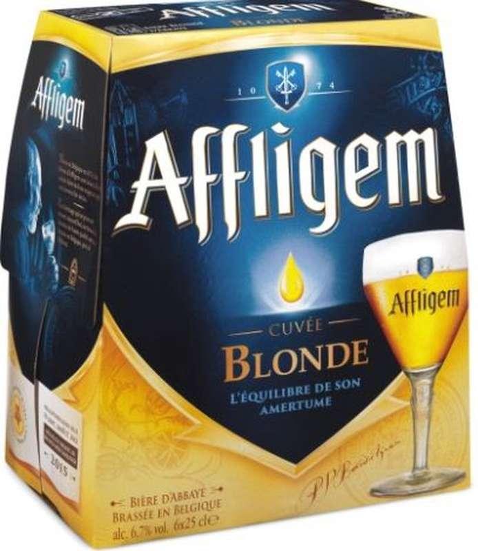 Pack d'Affligem, bière belge d'abbaye 6,7° (6 x 25 cl)