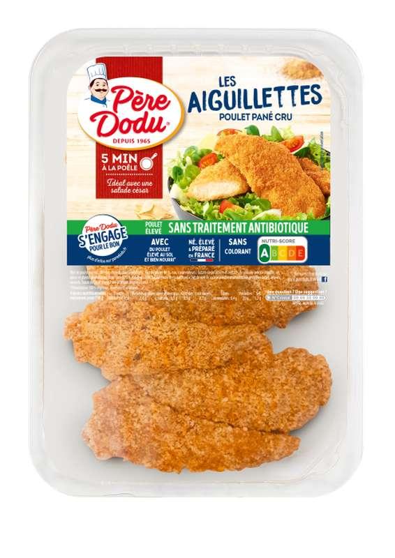 Aiguillettes de poulet panées, Père Dodu (x 6, 300 g)