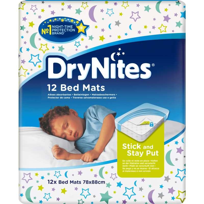 Alèses jetables Drynites bed mats, Huggies (x 12)