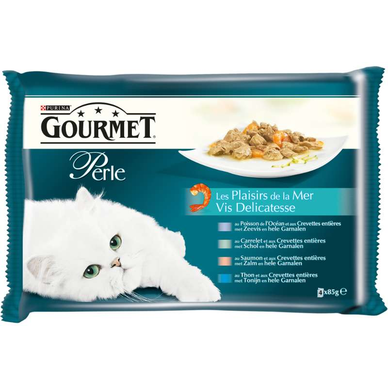 Gourmet Perle Les Plaisirs de la Mer, Purina (4 x 85 g)