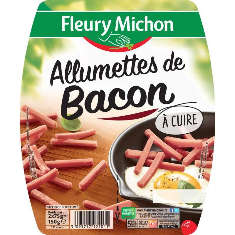 Allumettes de bacon à cuire, Fleury Michon (2 x 75 g)