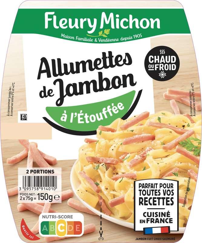 Allumettes de jambon à l'étouffée, Fleury Michon (2 x 75 g)