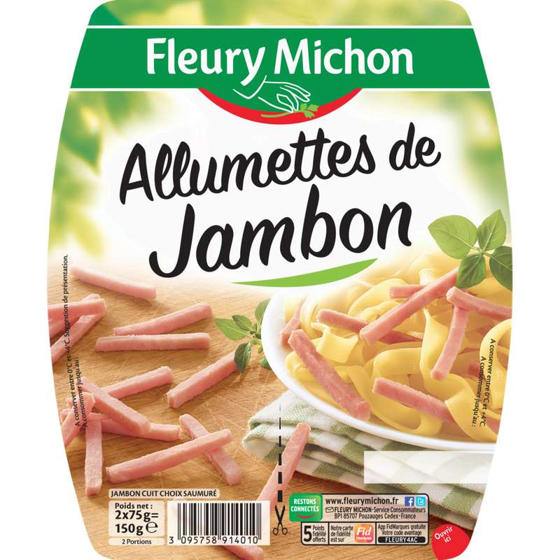 Allumettes de jambon, Fleury Michon (2 x 75 g)