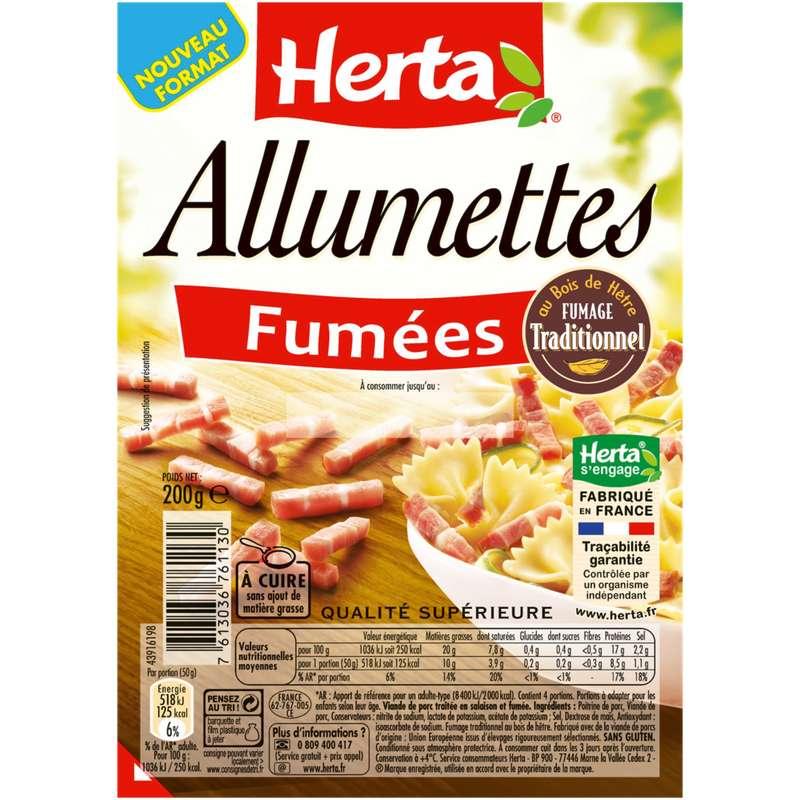 Lardons allumettes fumées, Herta (200 g)