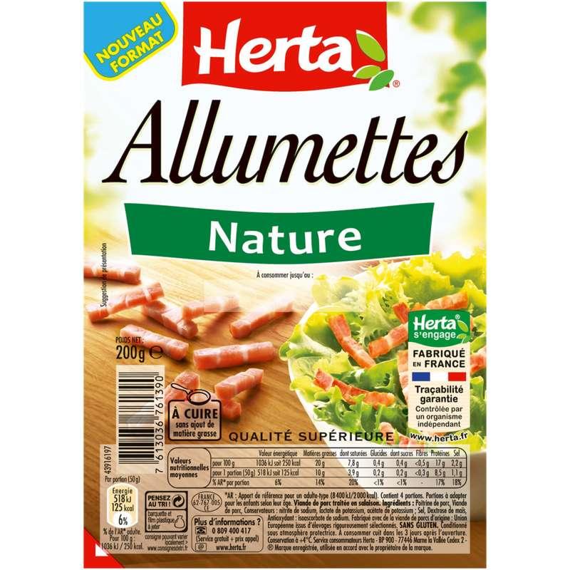 Lardons allumettes nature, Herta (200 g)