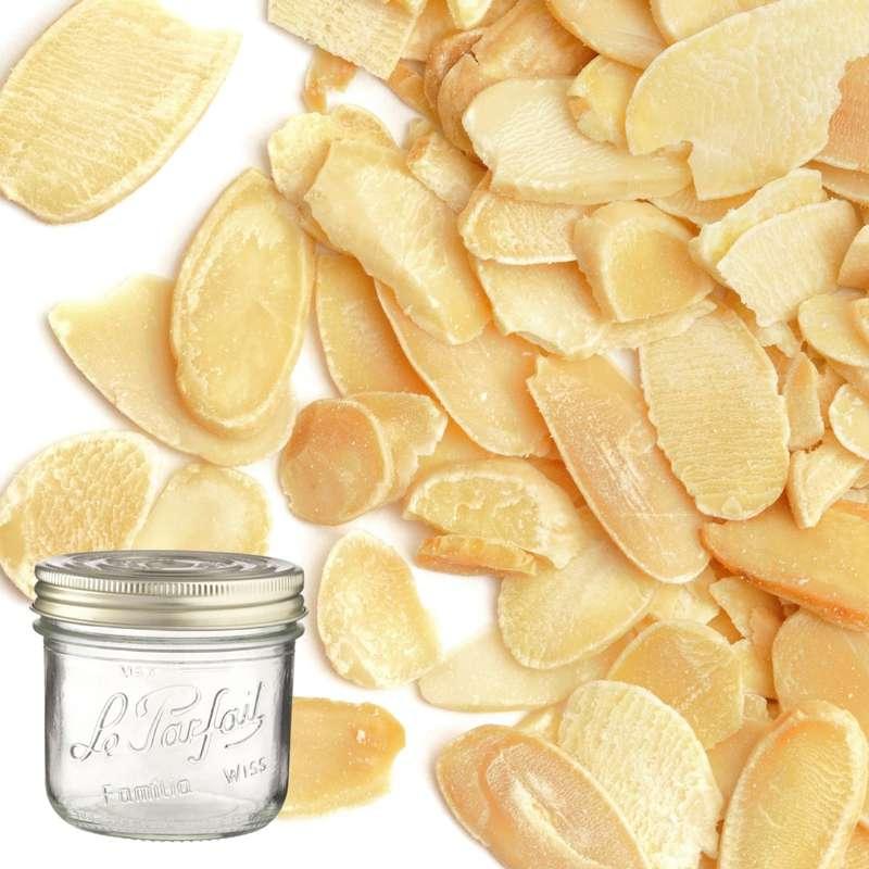 Amandes blanches effilées BIO bocal consigné / 2,5€ récupérable (330 g)