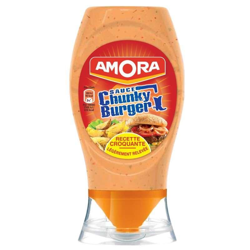 Sauce chunky burger, Amora (258 g)