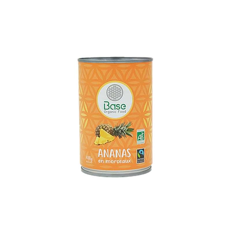 Ananas en morceaux BIO, Base Organic Food (430 g)