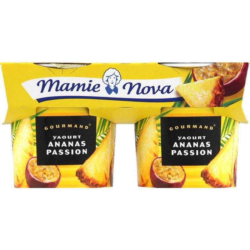 Yaourt Gourmand Ananas Passion, Mamie Nova (2 x 150 g)