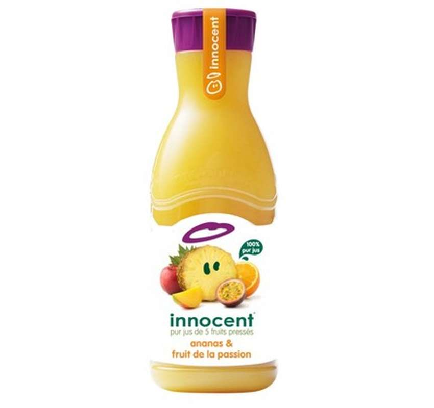 Jus d'ananas et fruit de la passion frais, Innocent (900 ml)