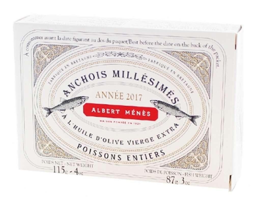 Anchois entiers millésimés, Albert Ménès (115 g)