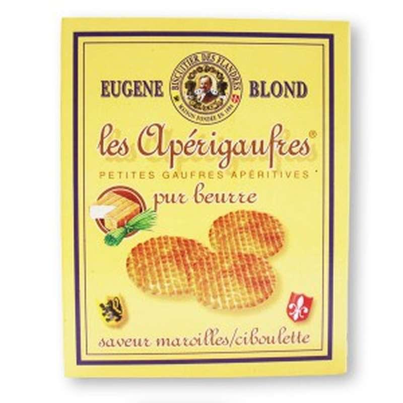 Apérigaufres pur beurre saveurs Maroille ciboulette, Eugene Blond (85 g)