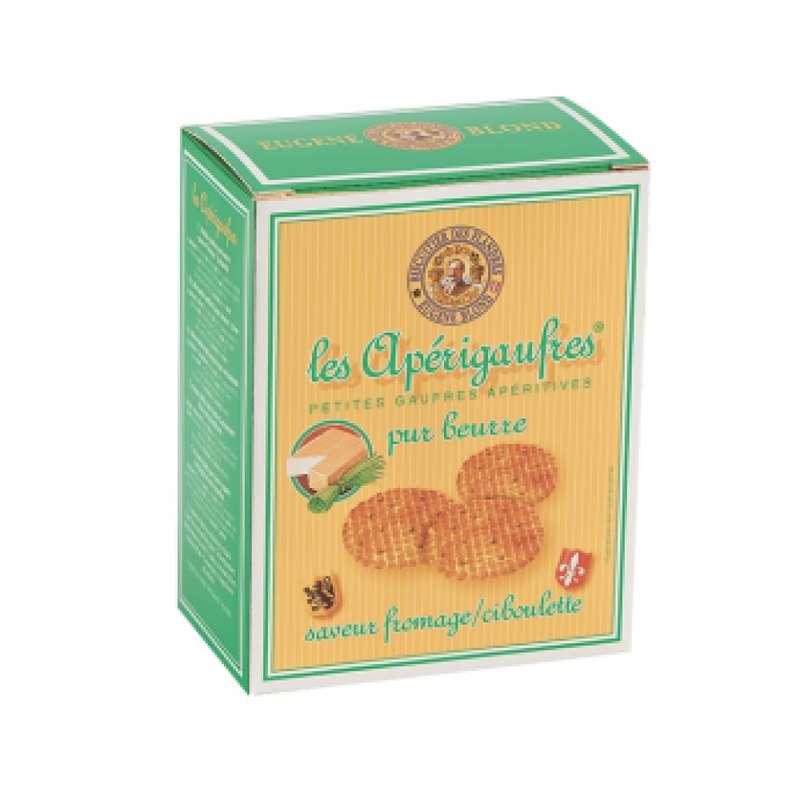 Apérigaufres pur beurre saveurs fromage et ciboulette, Eugene Blond (85 g)