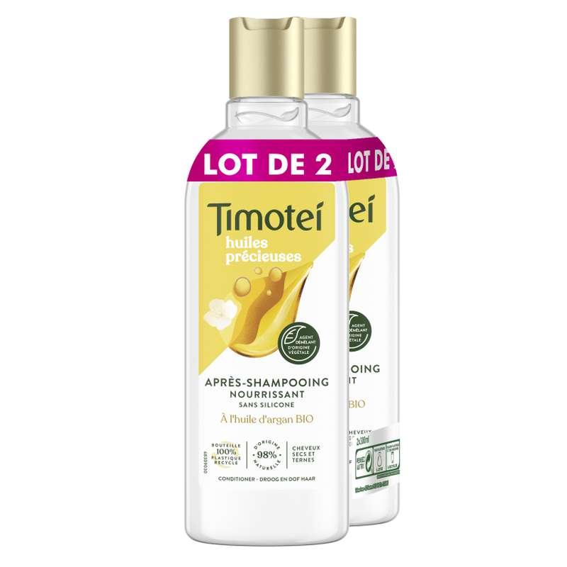 Après-shampoing argan & jasmin nourrissant, Timotei LOT DE 2 (2 x 300 ml)
