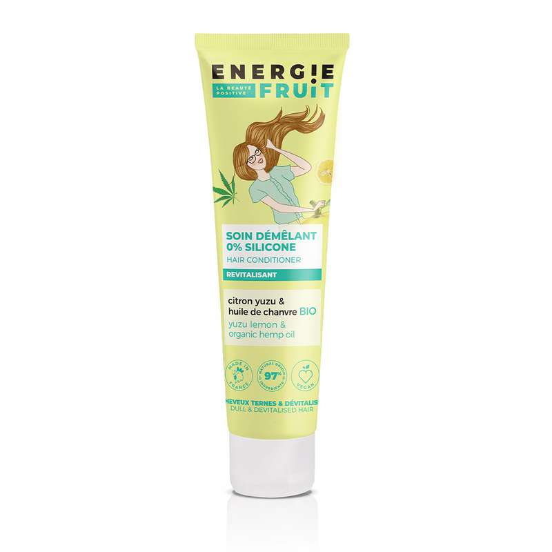 Après-shampoing Citron Yuzu et Huile de Chanvre, Energie Fruit (150 ml)