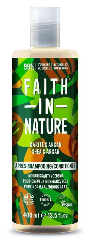 Après-Shampoing Karité & Argan, Faith In Nature (400 ml)