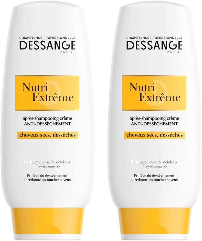 Après shampoing Nutri extrême cheveux secs, Jacques Dessange LOT DE 2 (2 x 200 ml)