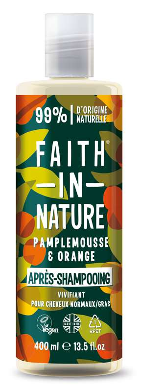 Après-Shampoing Pamplemousse & Orange, Faith In Nature (400 ml)