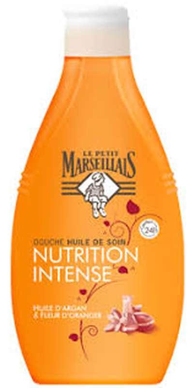 Huile de soin douche nutrition intense à l'argan, Le Petit Marseillais (250 ml)