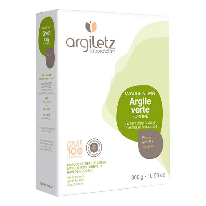 Poudre d'argile verte surfine, Argiletz (300 g)