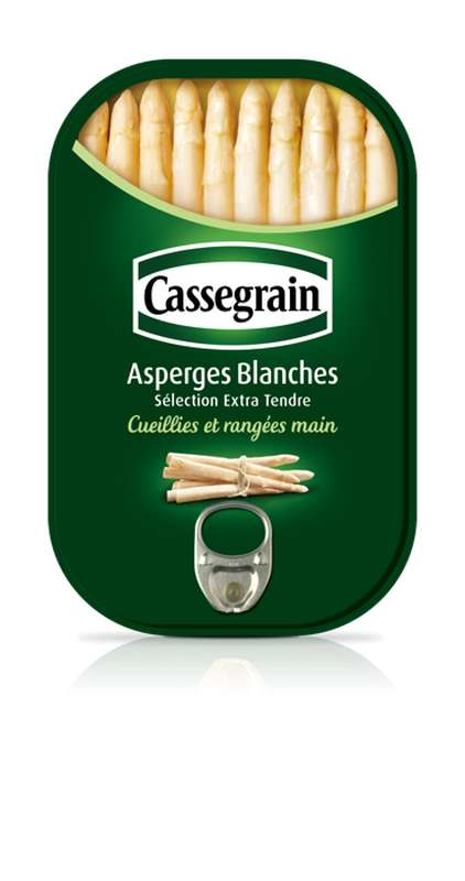 Asperges blanches nature, Cassegrain (130 g)