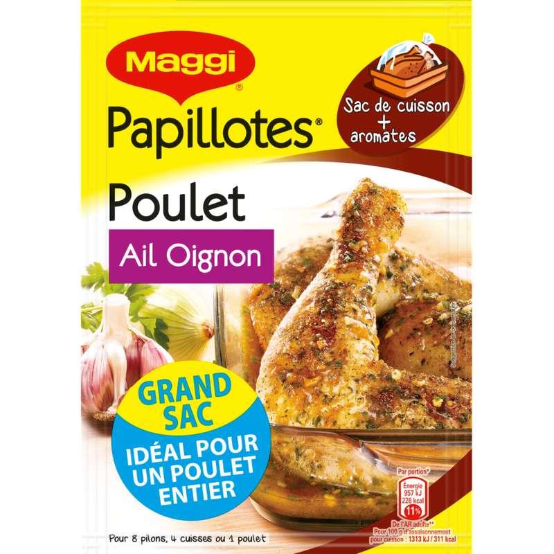 Assaisonnement pour papillotte de poulet à l'ail et aux oignons, Maggi (36 g)
