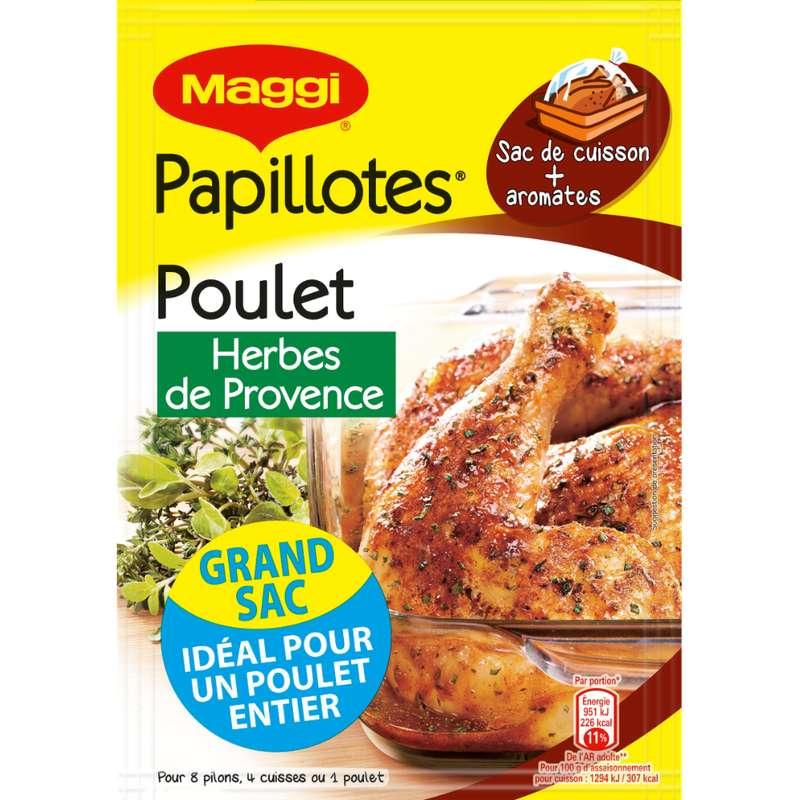 Assaisonnement pour papillotte de poulet aux herbes de Provence, Maggi (34 g)