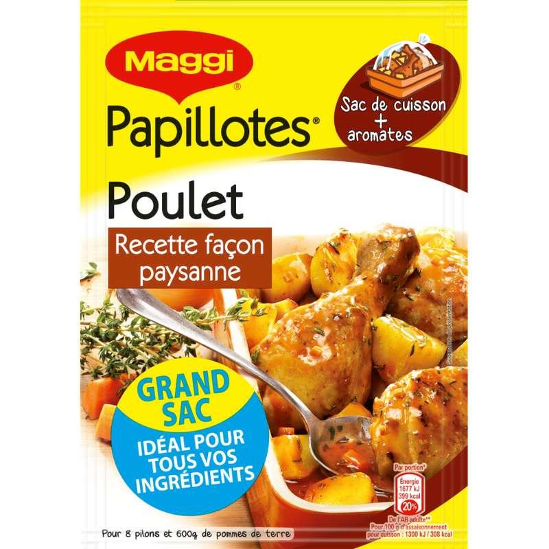Assaisonnement pour papillotte de poulet recette façon Paysanne, Maggi (32 g)