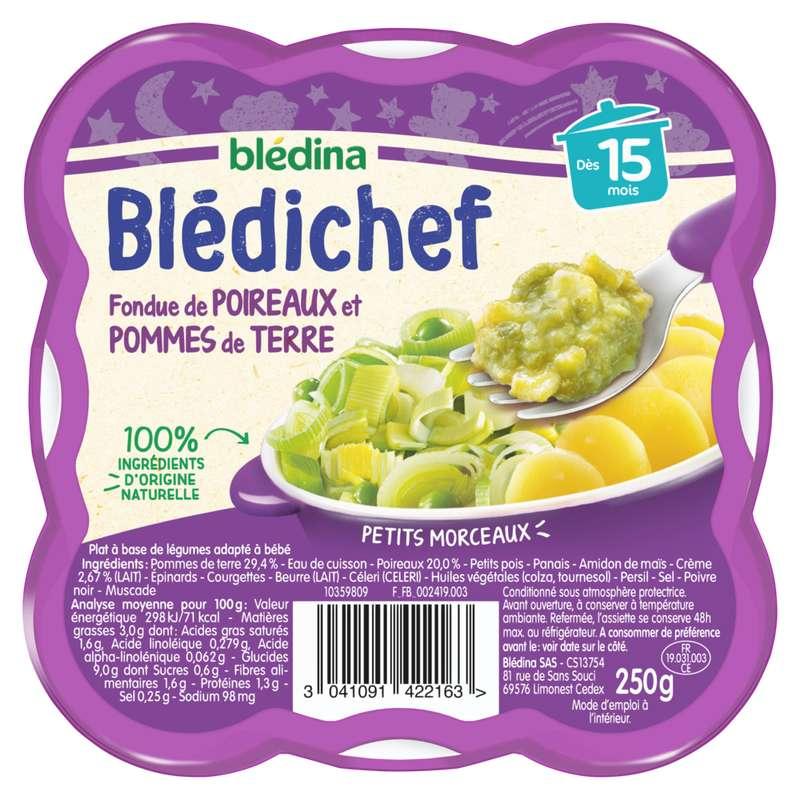 Blédichef assiette fondue poireaux pomme de terre et gruyère - dès 15 mois, Blédina (250 g)