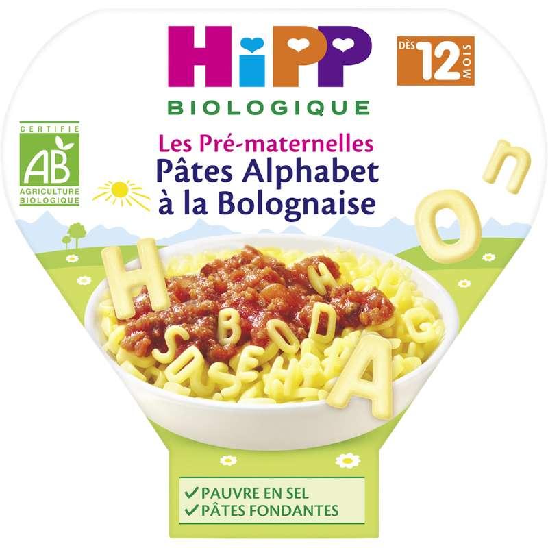 Les pré-maternelles pâtes alphabet à la bolognaise BIO - dès 12 mois, Hipp (230 g)