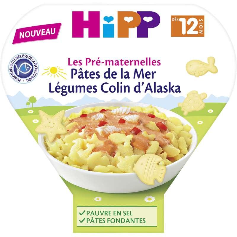 Les pré-maternelles pâtes de la mer, légumes, colin d'Alaska BIO - dès 12 mois , Hipp (230 g)